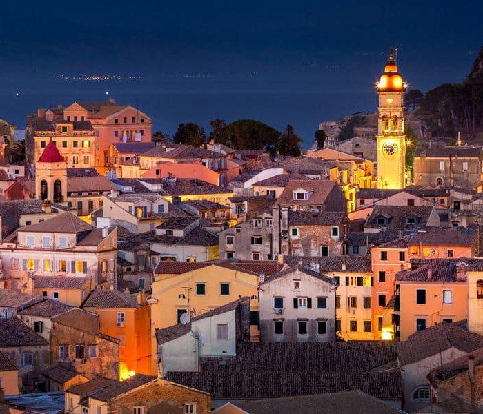 Panoramic view Corfu Town