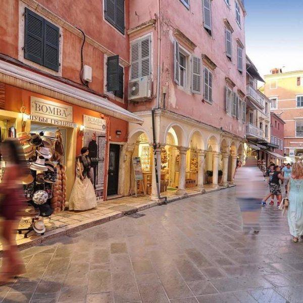 Corfu Town tour shopping